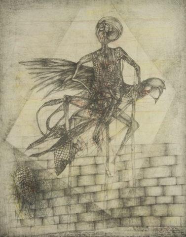 8_La tourterelle aux sacrifiés, 1994, mine de plomb et aquarelle sur papier, 66 x 52 cm