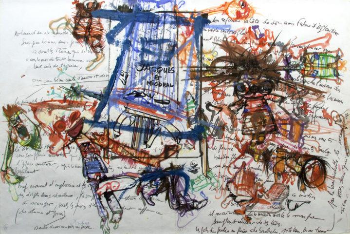 9_Dado, Sans titre, 1999, encres sur papier, 64 x 99 cm