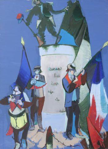 9_Jean Hélion-1976_Diptyque-partie-1-Suite-pour-le-11-Novembre-1976-acrylique-sur-toile-275-x-225-cm