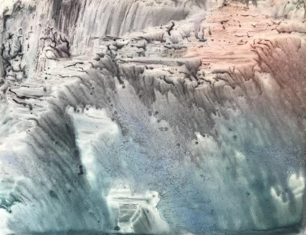 9_Trace, 2020, gouache et encre de Chine sur papier, 50 x 64,5 cm 2