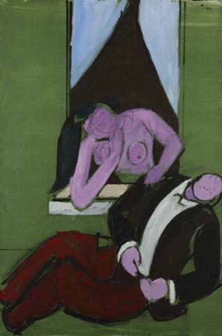 1983_Jean Hélion, «Les Rêveurs», 1983, acrylique sur toile, 147 x 97 cm
