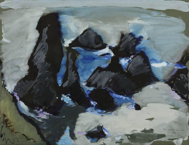 Jean Hélion, Belle-Ile, 1975, Gouache sur papier, 49,5 x 64 cm