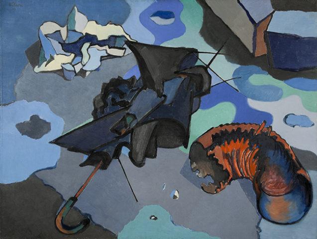 Jean Hélion, Nature morte à la flaque d'eau, 1944, huile sur toile, 68,3 x 88,9 cm