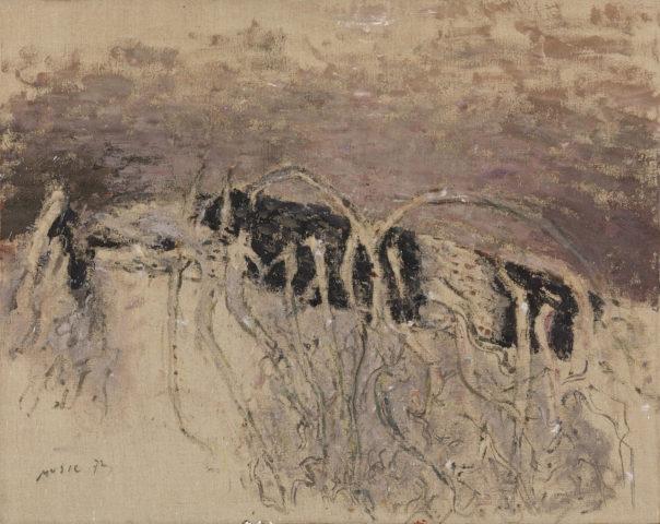 Zoran Music, Motif végétal, 1972, acrylique sur toile, 73 x 93 cm