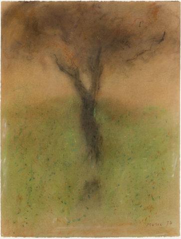 Zoran Music, composition, 1973, pastel sur papier, 65 x 49 cm